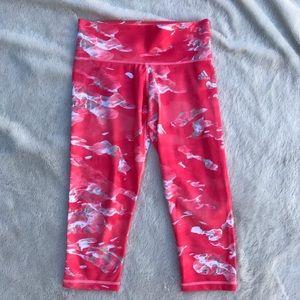 Adidas Hot Pink Yoga/Run Athletic Capris